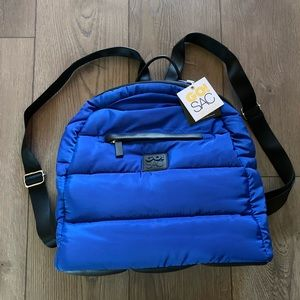 NWT Go! Sac Soft Quilted Blue Backpack